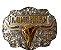 Fivela Para Cinto Country De Zamac Longhorn 9676 - Imagem 1