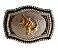Fivela Para Cinto Country De Zamac Touro Stars Buckles 10327 - Imagem 1