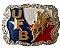 Fivela Para Cinto Country De Zamac UFB Bandeira 11234 - Imagem 1