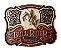 Fivela Para Cinto Country De Zamac Zeon Touro Bull Rider 11223 - Imagem 1