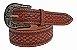 Cinto Paul Western Couro Fivela Prata  cor marrom - Imagem 1