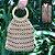 Bolsa de Crochê Bege com Aplicações de Madeira - Imagem 1
