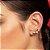 Brinco ear cuff composto por 8 pérolas sintéticas de 4,0 mm Rommanel - Imagem 2
