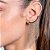 Brinco ear cuff formado por franja com fio Rommanel - Imagem 2
