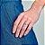 Aanel skinny ring composto por coração cravejado por 9 zircônias Rommanel - Imagem 2