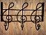 Cabide de Ferro notas Musical 3 Ganchos  - Imagem 3