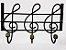 Cabide de Ferro notas Musical 3 Ganchos  - Imagem 4