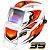 Máscara de Solda Super Tork MTR 9035 Racing Branca Com Escurecimento Automático - Imagem 1