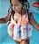 Maio flutuante - rosa claro picolé - alcinha - menina - Imagem 3