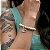 Pulseira Prasada Howlita Branca Pingente Banhado a Prata Olho Grego 8mm - Imagem 2