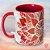 Caneca Decor - Mandala Vermelha - Imagem 1