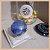 Anel Pedra Natural Quartzo Azul Banho Ouro 18K - Semijoia de Luxo - Imagem 2