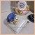 Anel Pedra Natural Quartzo Azul Banho Ouro 18K - Semijoia de Luxo - Imagem 1