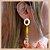Brinco com Pedra Natural Jade Amarela e Correntes - Banho Ouro 18K - Semijoia de Luxo - Imagem 4