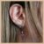 Ear Jacket Com Pedra Kunzita - Lapidação Especial e Micro Cravação Zircônia Cristal - Banho Ródio Negro - Semijoia de Luxo - Imagem 2