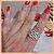 Anel Duplo Infinito em Micro Zircônia Cristal - Banho Ouro Rosé 18K - Semijoia de Luxo - Imagem 7