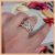 Anel Duplo Infinito em Micro Zircônia Cristal - Banho Ouro Rosé 18K - Semijoia de Luxo - Imagem 9