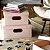 Caixa Organizadora Dello Linho Rosa Claro 25X25X15 cm - Imagem 2