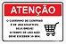 Placa Aviso - Carrinho de Compras Condôminio - Imagem 1