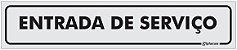 Placa Identificação Entrada de Serviço em PS 1mm - Imagem 1