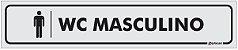 Placa Identificação - WC Masculino - 25x5cm - Imagem 1