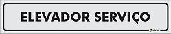 Placa Identificação - Elevador Serviço - 25x5cm - Imagem 1