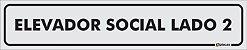 Placa Identificação - Elevador Social - Lado 2 - 25x5cm - Imagem 1