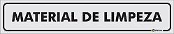 Placa - Identificação - Material de Limpeza - 25x5cm - Imagem 1