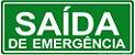 Placa - Saída de Emergência - Imagem 1