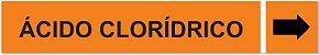Etiqueta Adesiva Identificação de Tubulação Ácido Clorídrico - Imagem 1