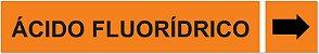 Etiqueta Adesiva Identificação de Tubulação Ácido Fluorídrico - Imagem 1