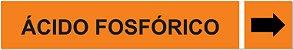 Etiqueta Adesiva Identificação de Tubulação Ácido Fosfórico - Imagem 1
