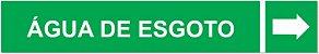 Etiqueta Adesiva Identificação de Tubulação Água de Esgoto - Imagem 1