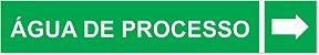 Etiqueta Adesiva Identificação de Tubulação Água de Processo - Imagem 1