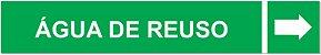 Etiqueta Adesiva Identificação de Tubulação Água de Reuso - Imagem 1