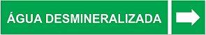 Etiqueta Adesiva Identificação de Tubulação Água Desmineralizada - Imagem 1