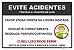 Placa - Evite Acidentes - Proteja o coletor de lixo - Imagem 1