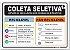 Placa - Coleta Seletiva - Imagem 1