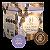 Ovo de pascoa chocolate branco com avelã e cacau Haoma 300g - Imagem 1