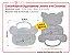 Caixa Plastica Organizadora - Formato de Ursinho c/ 11 Divisórias - Imagem 1