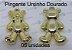 05 Pingente Ursinho Dourado 4x2cm (pacote com 05 unidades) - Imagem 1