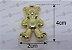05 Pingente Ursinho Dourado 4x2cm (pacote com 05 unidades) - Imagem 2