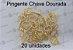 20 Pingente Chave Dourada 2x1,5cm (pacote com 20 unidades) - Imagem 1