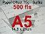 Miolo papel offset - tamanho A5 - 75g - Imagem 3