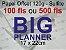 Miolo papel offset - tamanho BIG PLANNER 17x22 - 120g - Imagem 1