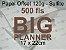 Miolo papel offset - tamanho BIG PLANNER 17x22 - 120g - Imagem 3