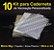 10 Kit Insumos Caderneta 90g (papelao com abas e wire-o 3/4) - Imagem 1