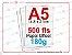 500 fls papel offset - tamanho A5 - 180g - Imagem 1