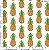 Tecido 100% algodão - Estampa Abacaxi -  0,50 metro - Imagem 1