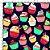 Tecido 100% algodão - Estampa Cupcake  -  0,50 metro - Imagem 1